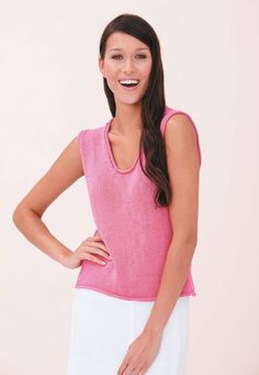 Einfach zu strickendes Damen-Top Easy to knit ladies top – free knitting instructions Knitting Websites, Knitting Blogs, Knitting For Beginners, Free Knitting, Knitting Patterns, Cardigan Long, Cardigan Outfits, Vest Pattern, Top Pattern