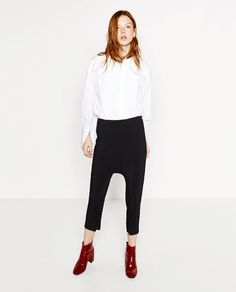 Black Relaxed Fit Trousers by Zara | $49.90