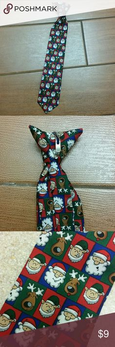 Clip-on Christmas Tie Clip-on Christmas Tie for a young boy Accessories Ties