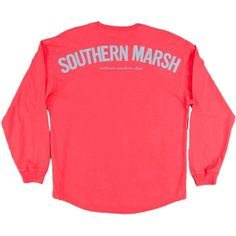 Southern Marsh Rebecca Jersey Longsleeve T-shirt ($48) ❤ liked on Polyvore featuring tops, t-shirts, longsleeve t shirts, jersey knit tops, long sleeve jersey top, long sleeve tee and jersey tops