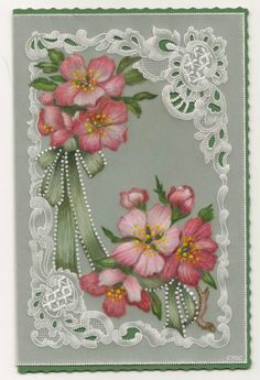 Parchment card coloured with polychromo pencils.