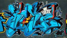 Blue graffiti