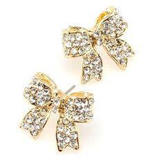 ladylike bow earrings