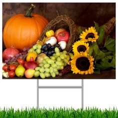 Thanksgiving Day Lawn Signs; Monday, October 10 2016. Thanksgiving Day in Canada has been a holiday on the second Monday of October since 1957. It is a chance for people to give thanks for a good harvest and other fortunes in the past year. To advertise an event or celebrate a date order custom made lawn signs specially for this event. Min order is one lawn sign. See our price list here:  https://www.lawnbagsigns.com/coroplast-signs-full-colour.php Contact Us for your Thanksgiving Lawn Signs