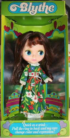 1972 Kenner Blythe Doll (Brunette in Love 'n Lace Dress)