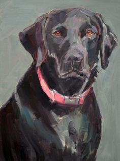 An Original Fine Art Gallery by Daily Paintworks Animal Paintings, Animal Drawings, Watercolor Animals, Dog Portraits, Dog Art, Painting Inspiration, Painting & Drawing, Illustration Art, Black Labs