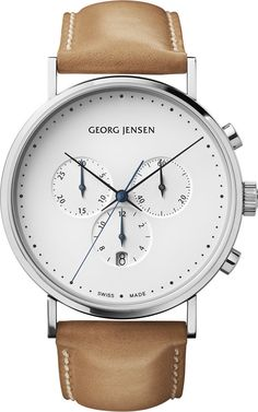 Georg Jensen Watch Koppel #bezel-fixed #bracelet-strap-leather #brand-georg-jensen #case-depth-11-7mm #case-material-steel #case-width-41mm #chronograph-yes #date-yes #delivery-timescale-call-us #dial-colour-white #gender-mens #luxury #movement-quartz-battery #official-stockist-for-georg-jensen-watches #packaging-georg-jensen-watch-packaging #style-dress #subcat-koppel #supplier-model-no-3575558 #warranty-georg-jensen-official-2-year-guarantee #water-resistant-30m