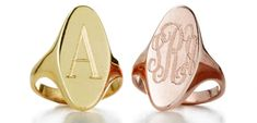 Sarah and Chloe Oval Signet ring chloe oval, signet ring, oval signet