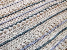PDF Crochet Pattern: Rustic Cream Green and Grey by HanJanCrochet