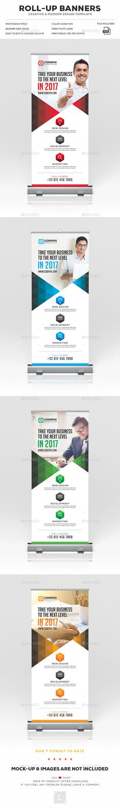 Corporate Roll-Up Banner Template PSD. Download here: https://graphicriver.net/item/corporate-rollup-banner/17474584?ref=ksioks