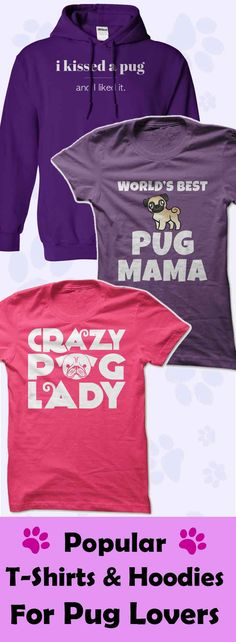Are you a Pug lover? Or do you know someone who is? Then you'll love our Pug T-Shirt and Hoodie Collection…Click to see here>>   https://www.sunfrog.com/DogNamesAndMore/Pug-Collection