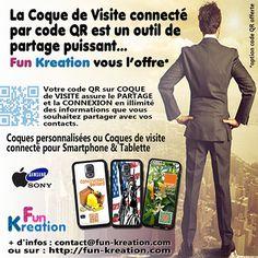 COQUE PERSONNALISEE CONNECTEE POUR SMARTPHONE IPHONE & SAMSUNG: Coque personnalisée smartphone connectée par code ...