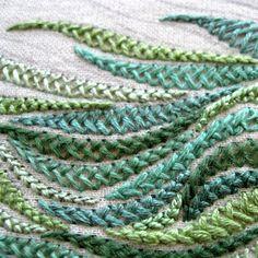 variation to the herringbone stitch