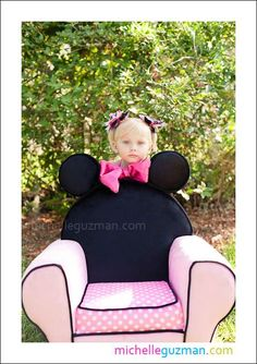 Super Cute Minnie Mouse Chair for the B-Day Girl.