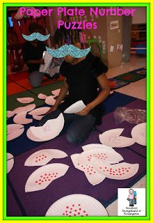 Using paper plates to create cheap, engaging math and literacy centers aligned to the common core!