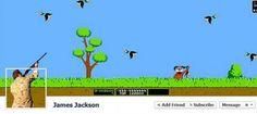Timeline Facebook Duck Hunt