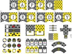 Batman Birthday Printable, (4)