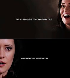 We all have one foot in a fairy tale and the other in the abyss #cm