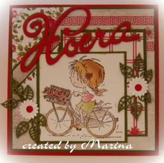 creaties van Marina: Op de fiets