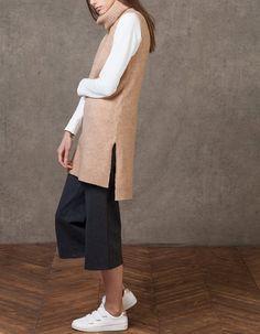 Jersey túnica cuello cisne - PUNTO - MUJER   Stradivarius España