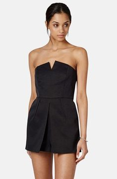 Topshop Notched Neck Romper (Regular & Petite) available at #Nordstrom