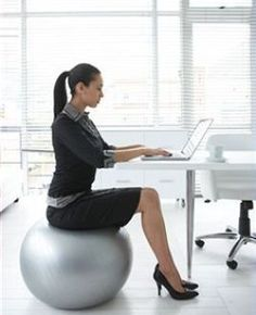 Sitting On A Gym Ball At Work The Facts Http Www Bacrac Co Uk