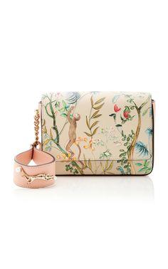 Jungle print leather handbag by Alberta Ferretti