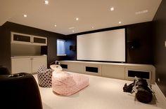 TV Room in Basement
