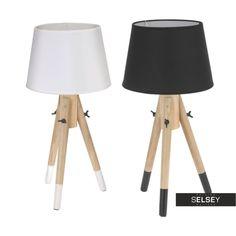 Lampa stojąca drewniana z abażurem 49 cm - idealny sposób na przytulny i stylowy pokój