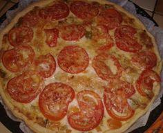 pâte feuilletée, oeuf, crème fraîche, gruyère, thon, poivron, tomate, oignon, Sel, poivre