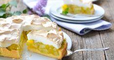 Fantastický letný koláčik, ktorý dokonale balansuje medzi sladkou akyslou chuťou. Camembert Cheese, Pie, Eggs, Pudding, Healthy Recipes, Breakfast, Food, Flower, Crafts