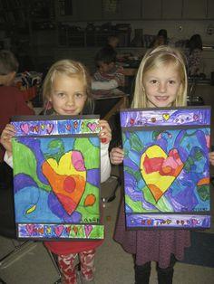 Jamestown Elementary Art Blog: Kindergarten Jim Dine Hearts