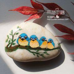 创意手绘石来自雨荷手绘精品馆的图片分享-堆糖;