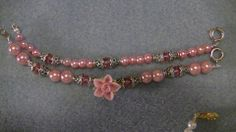 Double Strand Stackable Bracelets/4mm Swarovski Faux Glass Pearl/4mm Swarovski Crystals. Hand Made Polymer Clay Focal Bead Some Have Daisy Spacers/Some Have Bead Caps/Wear Together or Separate