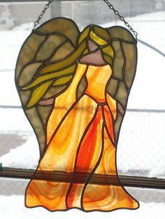 Enchanted Angel  orange dress by VioletGlass123 on Etsy, $50.00