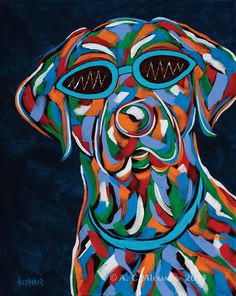Got It! Abstract Dog Art Print | Abstract, Art and Etsy