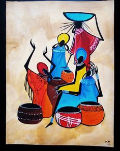 New contemporary landscape art blue 29 ideas African Art Paintings, Modern Art Paintings, Worli Painting, Fabric Painting, Afrique Art, Indian Folk Art, Modern Indian Art, Madhubani Painting, Cool Art Drawings