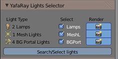 Yafaray Lights Selector