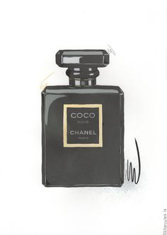 Perfume of Coco Chanel Noir Black illustration by RKHercules | RKHercules - artist
