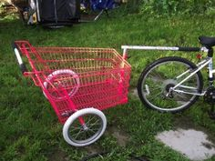 Grocery cart trailer