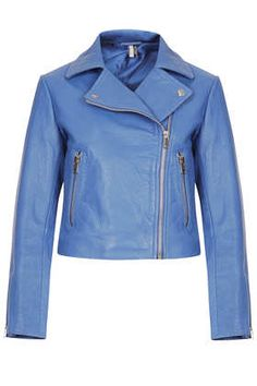 Boxy Leather Biker Jacket - Topshop
