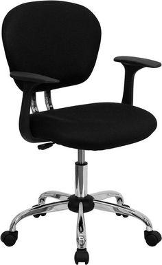 Black mesh chair H-2376-F-BK-ARMS-GG