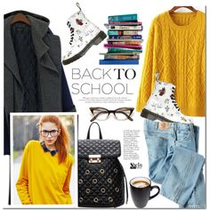 A fashion look from February 2016 by mada-malureanu featuring Dickies, Dr. Martens, 7 For All Mankind, women's clothing, women, female, woman, misses, juniors,...