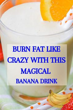 banana smoothie and melt the body fat like crazy. This delicious, healthy and fat burning drink will replace one meal a day. Flat Belly Challenge, Drink Tags, Banana Drinks, One Meal A Day, Ginger Water, Fat Burning Drinks, Like Crazy, Fresh Lemon Juice, Balanced Diet