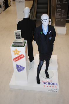 // display // visual merchandising // back to school // school uniforms // school display