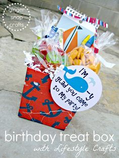 DIY::Birthday treat box -with Lifestyle Crafts
