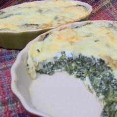 Low-Carb Muenster Spinach Pie Recipe