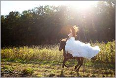 wedding horse cheval // les moineaux de la mariee