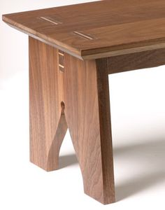 Step stool with interesting wedged mortise and tenon joints.