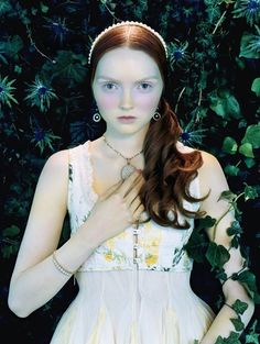 Like a painting   Lily Cole by Miles Aldridge for Vogue Italia February 2005